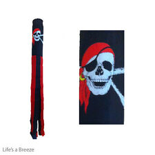 Pirate Windsock With Red Bandana  For Telescopic Flag Poles.Pirate Windsock