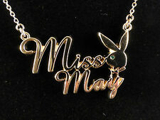 Playboy Gold Plated Miss May Necklace with Emerald Crystal Eye & Gift Bag