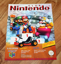 1997 Club Nintendo Magazine Kirby's Star Stacker With Wave Race 64 Poster Mario
