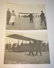 Rare World War 1 Miniature Photo Lot! Bi-Wing Airplanes Public Examination! WWI