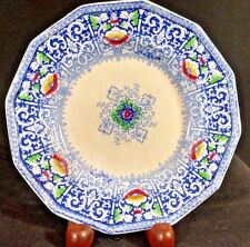 Staffordshire ZAMARA Blue Transfer Morley & CO. 6.25 inch Stone ware Plate 1850s