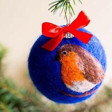 Christmas Robin Wool Ball Robin Redbreast New Year Tree Decor Christmas Home