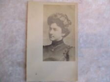 Vintage Real Photo Post Card of Young Victorian Lady/Girl Wearing Necklace