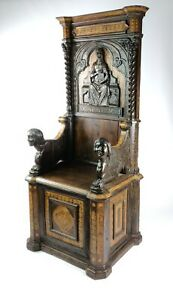 A Magnificent Early 16th Century Italian Throne Chair.