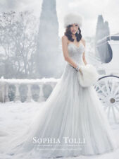 Crystal/Diamante Tulle A-line Strapless Wedding Dresses