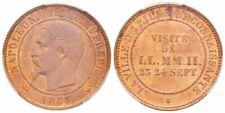 Boîtiers FDC, BU, BE de pièces de monnaie françaises en cuivre