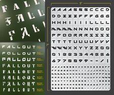 Sci-Fi Lettering Airbrush Stencil 1 Lettering Schablonen Maskierung Buchstaben