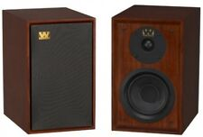 Wharfedale Denton Speakers Bookshelf Stereo Pair Home 80th Mahogany RRP £499
