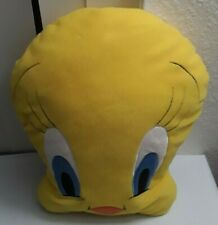 "Tweety Bird Plush Yellow Pillow 13"" Foam Face Head"