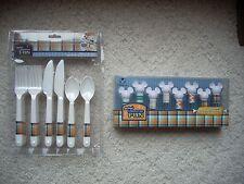 New Mickey Corn on the Cob Holders & Cutlery Set Disney Summertime fun Sealed!!!