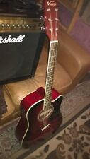 More details for vintage electro- acoustic guitar - with amplifier lead -