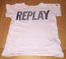 Boys Beige Replay T-shirt Size 4 Years