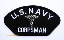CORPSMAN HAT JACKET PATCH US NAVY MARINES DOC MEDIC FMF PIN UP USS USN CADUCEUS