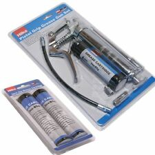 Pistol Grip Grease Gun with 3 cartridges 120cc Manual One Handed Greasing Set
