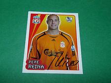 N°305 PEPE REINA LIVERPOOL REDS MERLIN PREMIER LEAGUE FOOTBALL 2007-2008 PANINI