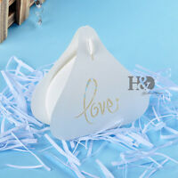 60 Ivory Wedding Favour Favor Sweet Cake Gift Candy Boxes Bags Anniversary Party