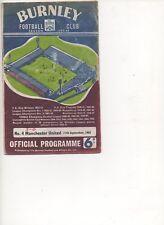 MAN UTD away programme 1965/6   v   Burnley 11/9/65