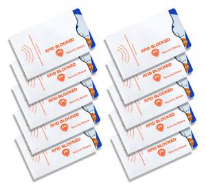 Alban 10 RFID Blocking Sleeve Credit Card Protector Bank Card Holder for Wallets