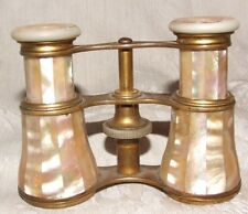 Antique LeMaire Paris FRANCE Mother of Pearl Opera Glasses Binoculars FINE Cond