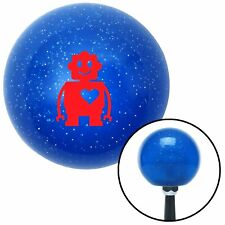 Red Robot Love Blue Metal Flake Shift Knob dirt bbc line out parts sprint car