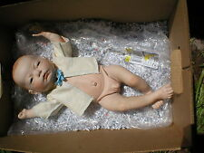 Scioto anatomically correct baby boy All porcelain doll 646 SHoio c.1985 MICHEAL