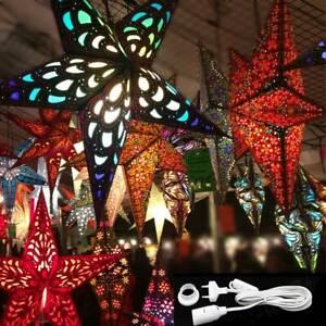 Sternenlicht Papierstern Weihnachtstern Adventsstern Leuchtstern Faltstern Set