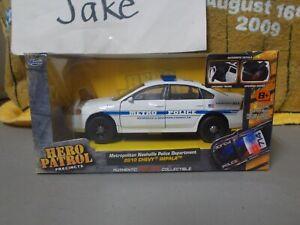 NIB NASHVILLE POLICE DEPARTMENT 2010 CHEVY IMPALA CAR 1/32 JADA HERO PATROL