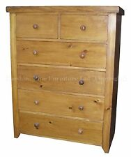 Bedroom Country Pine More than 200cm Chests of Drawers