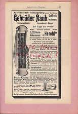 GRÄFRATH-SOLINGEN, Werbung 1908, Gebrüder Rauh Vexier-Nicker-Messer Herold