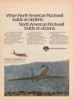 1970 North American Rockwell Sabreliner Jet Hawk Commander photo promo print ad