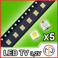 5X LED RETROILLUMINAZIONE TV 1W 3,2V 3528 LG ALTA QUALITA'