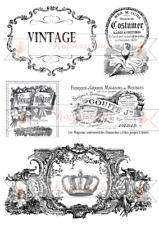 5 vintage Motive auf  A4  wasserfest Möbeltattoo A 4 Decal Abziehbild
