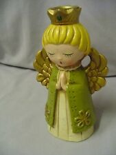 "Angel Candle Holder Papiermache Ardco Fine Quality Dallas Japan 7"" Tall Vintage"
