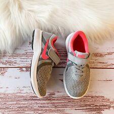 Nike Revolution 4 Girls Shoes Grey Pink Sz 11 C