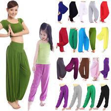 Женские девочки йоги гарем брюки Али-Баба длинные брюки мешковатые гарем леггинсы тренажерный зал