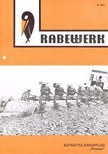 Rabewerk Aufsattel- Drehpflug Phoenix, orig. Prospekt 70/80er Jahre