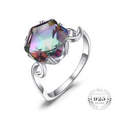iBigboy Jewelry Rings Genuine Rainbow Fire Mystic Topaz Ring 925 Sterling Silver