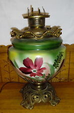 Antique Electrified Floral GWTW Lamp Base