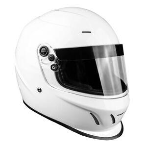 SNELL SA2015 Helmet Adult Full Face Gloss White Small Medium XL XXL
