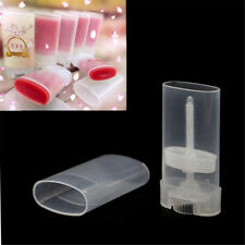 1/2/5pcs 15ml DIY Clear Empty Oval Flat Tubes Deodorant Lip Balm Containers 1pc