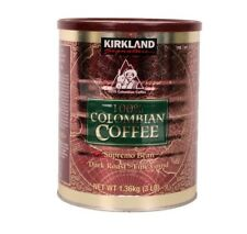 Kirkland Signature 100% Colombian Coffee Supremo Bean Dark Roast Grind Beve