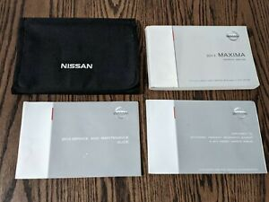 2013 Nissan Maxima Auto Owner's Manual with Supplements & Case #1316A