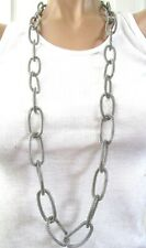 SIMONA COLLINI Stainless Steel Mesh Link Necklace