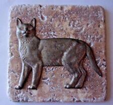 Cat tile mold kitten kitty plaster cement travertine casting mould