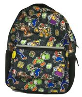 NWT Super Mario Bros. Backpack gym Book Bag new Yogi Luigi Nintendo