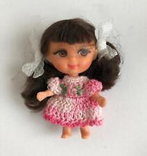 "Clothes for Tiny 2 3/4"" Mattel Kiddles Doll Pink Multi Dress OOAK Lot MK-10 USA"
