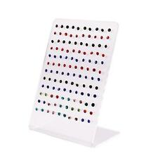 Fashion 120 Holes Earring Holder Ear Stud Jewelry Stand Display Showcase Rack