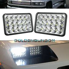 1 Pair LED Headlights Headlamps For GM C4500 C5500 vehicles w/ dual headlights