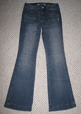 NWT AMERICAN EAGLE DISTRESSED PAINT SPLATTER 00 VINTAGE FLARE STRETCH JEANS