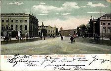 Berlin 1905 Unter den Linden Königliches Schloss Strassen Partie mit Radfahrer